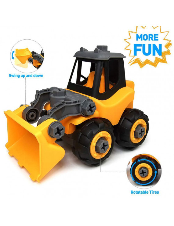 Wistoyz Take Apart Toys Car Truck for Toddlers ,Bulldozer Gift for 3 4 5 Year Old Boys Girls, DIY Toys , 3-4-5 Year Old Kids
