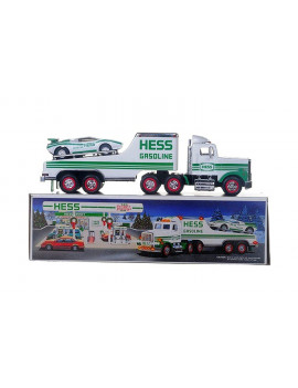 1991 Toy Truck with Racer, Real head and tail lights By Hess From USA