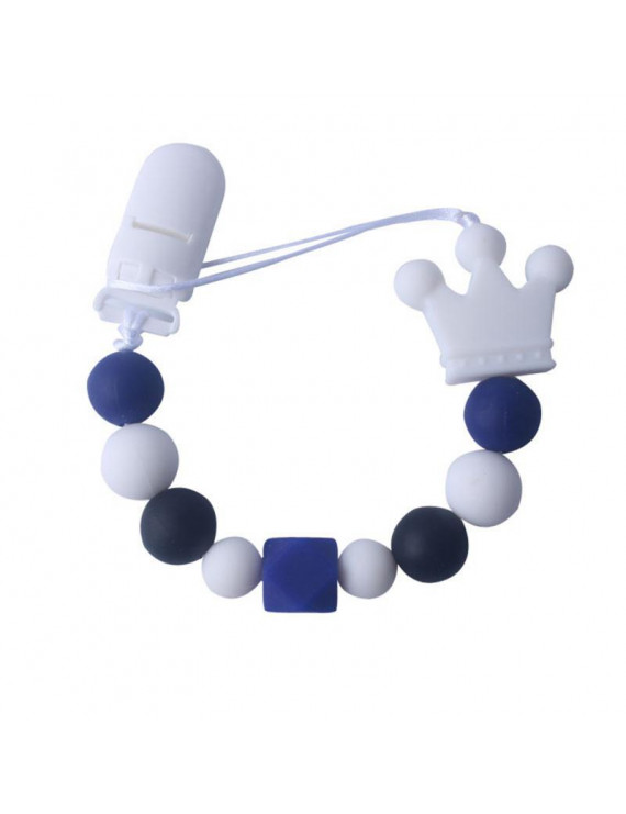 Fymall Baby Silicone Pacifier Soother Beaded Chain Clip Holder