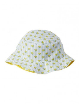 Azul Boys Light Blue Yellow Submarine Print Reversible Sun Hat