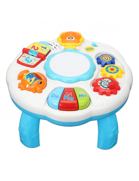 Toys Musical Learning Table with Light&Music, Game Table Toddlers, Musical Table, Educational Discovering Toys  for 18 month+ Toddlers Early Development Activity Toy
