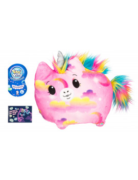 """Pikmi Pops Jelly Dreams, Wishes the Unicorn, 11"""" LED Light up Glowing Plush Toy, Style May Vary"""