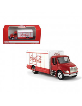 """Coca-Cola"" Beverage Truck Red and White 1/87 Diecast Model by Motorcity Classics"
