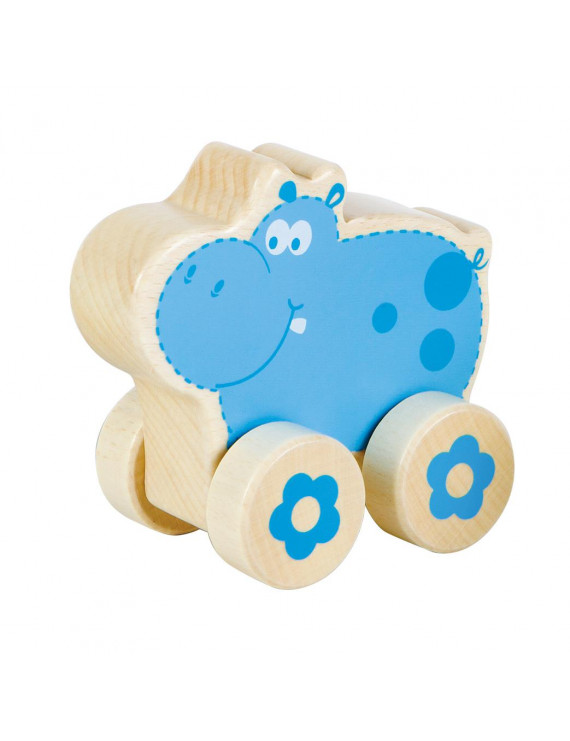 nature buddies wooden rollers - hippo