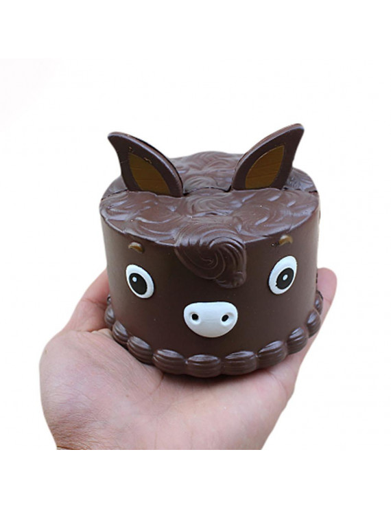 YIWULA Little Donkey Cake Stress Reliever Scented Super Slow Rising Squeeze Toy