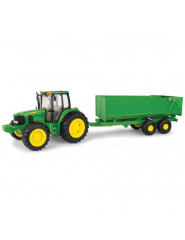 John Deere Big Farm Toy Tractor, 7430 Tractor with Wagon, 1:16 Scale