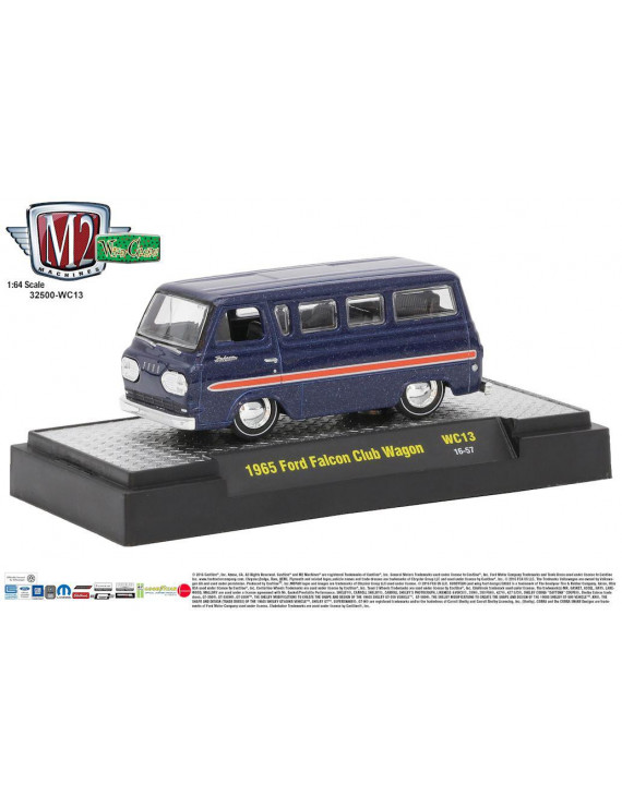 M2 Machines Wild Cards Release 13 1:64 1965 Ford Falcon Club Wagon