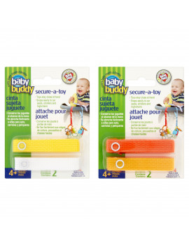 Baby Buddy Secure-A-Toy Toy Strap 4+ Months, 4 count