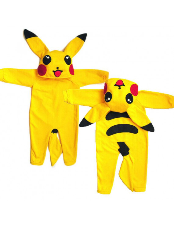 Pokemon Go Newborn Infant Baby Boy Girl Pikachu Outfit Jumpsuit Rompers Playsuit