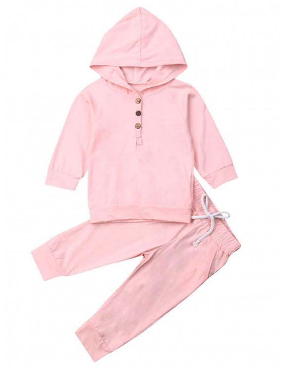 Pudcoco Baby Cotton Sets Casual Hooded Tops Pants Outfits Set Clothes