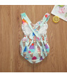 Summer Cute Baby Girls Cotton Rompers Ice Cream Tops Ruffle SleevelessJumpsuit Playsuit Outfit Cotton Clothes 6-12 Months