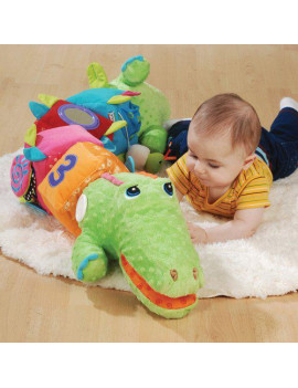 CrocoBloco 52 inch Super Soft Stuffed Crocodile that Comes Apart for Individual Block Play for Infants