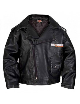 2T Little Boys' Upwing Eagle Biker Pleather Jacket Blk (2T) 0376074