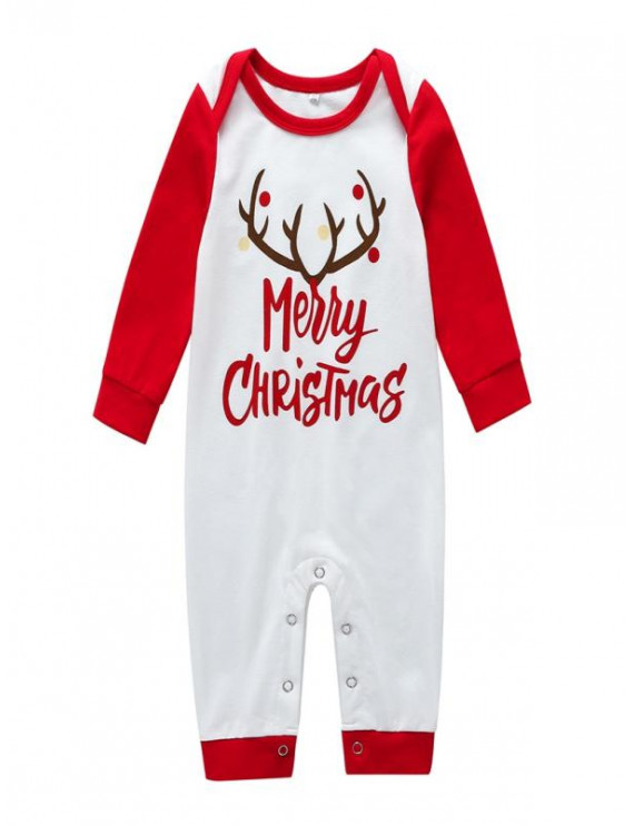 Infant Baby Girls Boys Christmas New Year Long Sleeve Rompers Jumpsuit