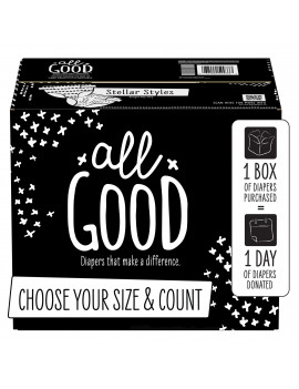 All Good Absorbent and Hypoallergenic Diapers, Size 1, 104 Ct