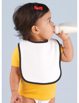 (Price/each)Rabbit Skins 1003 Infant Terry Snap Bib-Cardinal-OSFA
