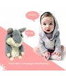 Plush Interactive Toys Mimicry Talking Hamster Repeats What You Say Electronic Pet (Grey)