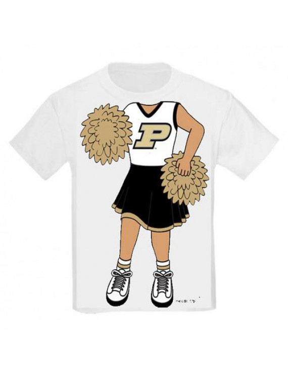 Purdue Boilermaker Heads Up! Cheerleader Infant/Toddler T-Shirt