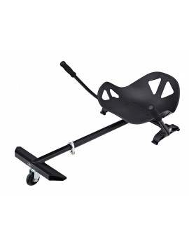 Black Hover-Board Mini Kart Attachment Transforms Your Self Balancing Scooter Into A 3 Wheeled Go Kart -(Hover Board Not Included