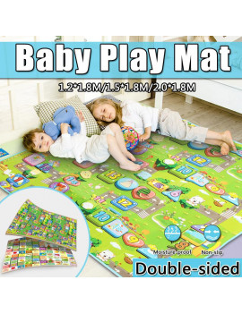 1.2*1.8M/ 1.5*1.8M/ 2.0*1.8M Baby Play Mat XPE Foam Thickening Eco-friendly Children Crawling Mat Playmat Non-slip Moisture-proof