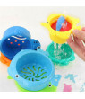 Akoyovwerve 6PCS Stack Cup Baby Bath Toy Kids Bathroom Education Water Toddler Bathtub Beach Toy