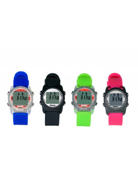 + Smallest Vibrating Waterproof Reminder Watch (Green Band / Transparent Case)