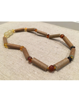 11 or 12.5 inch Hazelwood Necklace Eczema Colic Reflux GERD Newborn Infant Baby Toddler Baltic Amber Raw Rainbow teething pain drooling fever