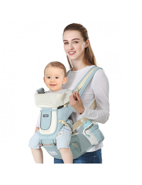 Baby Carrier Strap Adjustable Breathable Front Waist Stool Belt Hip Seat,Baby Hip Seat Carrier Baby Carrier Waist Stool Convinient Baby Front Carrier for 0-36 Month Baby