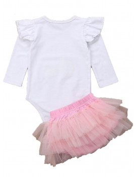 Dewadbow Baby Girl 1st Birthday Outfit One Year Party Cake Smash Tutu Skirt Clothes Set