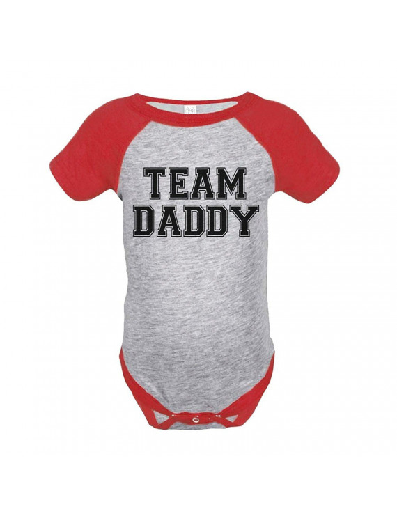 Custom Party Shop Boy's 1st Father's Day Onepiece - Red and Black / 6 Months