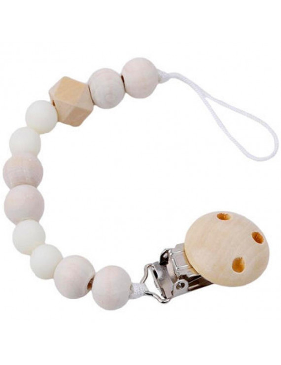 Baby Wood Beaded Pacifier Pacifier Chain Pacifier Clip For Kids