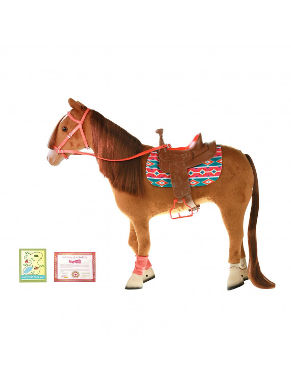 "My Life As 18"" Poseable Horse Play Set for 18"" Dolls, 9 Pieces, Multiple Colors"
