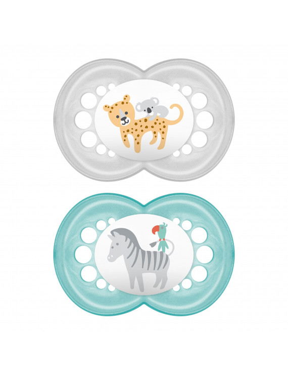 MAM Pacifiers, Baby Pacifier 16+ Months, Best Pacifier for Breastfed Babies, 'Original' Design Collection, Unisex, 2-Count