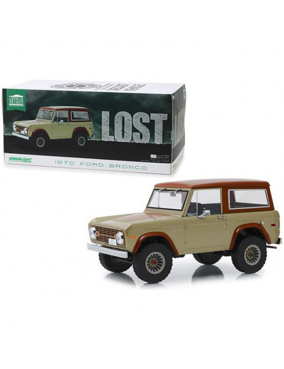 Greenlight 19057 1970 Ford Bronco Lost TV Series 1 by 18 Diecast Model Car, Tan & Brown