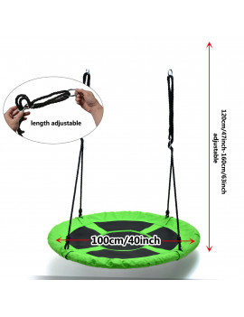 Detachable Swing Sets for Kids Playground Platform Saucer Swing Rope 1M 40'' Diameter