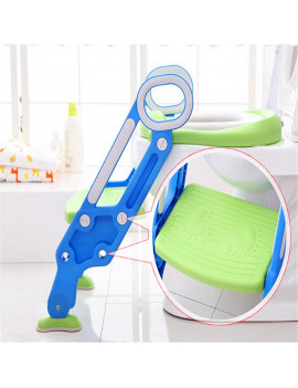 AUGIENB Kids Baby Toilet Potty Training Children Safety Toilet Trainer Seat with Sturdy & Non-Slip Step Stool Ladder, Adjustable Toddler Toilet Seat for Boys and Girls