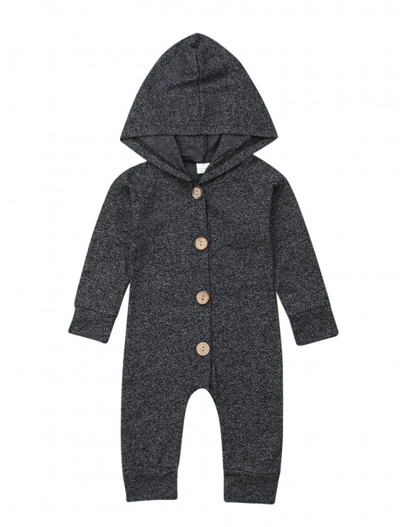 Dewadbow Newborn Baby Boy Girl Hooded Romper Jumpsuit Bodysuit Playsuit Clothes Outfit