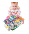 OTVIAP Soft Baby Cloth Activity Crinkle The animal's tail Book Early Education Book, Soft Book, Cloth Development Books
