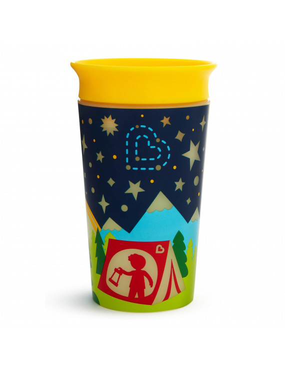 Munchkin Miracle 360° Glow in the Dark Sippy Cup, 9 Ounce, Camping