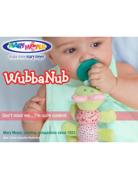 Mary Meyer WubbaNub Infant Newborn Baby Soothie Pacifier ~ Blush Putty Duck