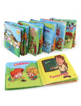Baby Fabric Activity Crinkle Soft Books for Infant Early Educational Toys