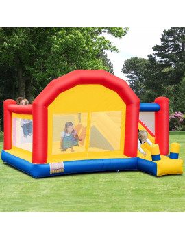 Costway Inflatable Bounce House Slide Bouncer Castle Jumper Playhouse without Blower