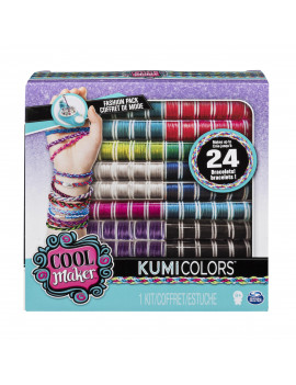 Cool Maker ? KumiColors Jewels & Cools Fashion Pack, Makes Up to 24 Bracelets with the KumiKreator, for Ages 8 and Up