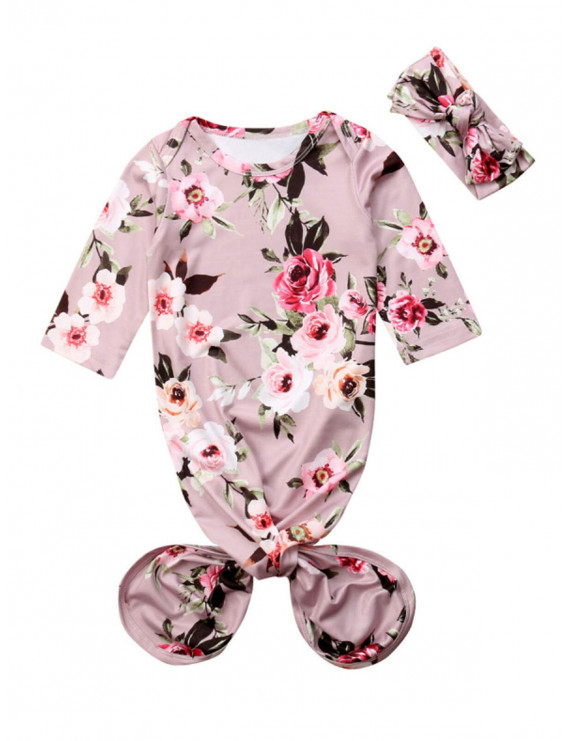 Newborn Baby Girl Floral Coming Home Sleep Gown Sleepwear Romper Sleeping Bags Nightgowns Pajamas Outfits Gift