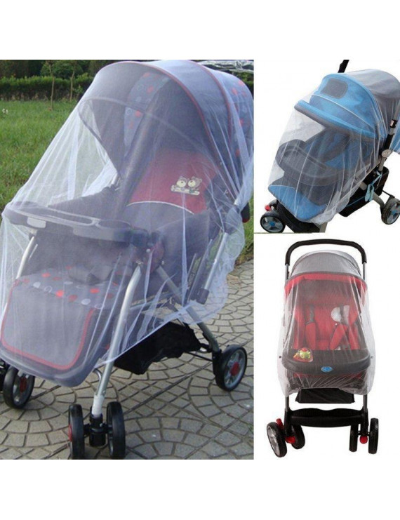 New Infant Baby Stroller Pushchair Mosquito Insect Net Safe Mesh Buggy