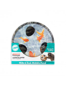 Hide & Seek Wobble Pond Interactive Scratch Cat Toy
