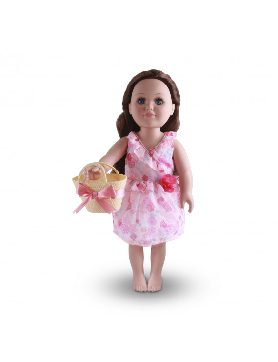 """My Life As Pink Rose Dress with Purse for 18"""" Dolls, 2 Pieces"""