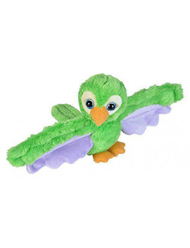 Huggers Green Parrot Plush, Measures approx. 6 By Wild Republic