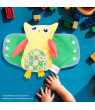 Mgaxyff 4Pcs Plush Owl Dressing Toy Baby Child Learn to Dress Doll Early Learning Education Toy, Basic Life Skill Toy, Baby Learn to Dress