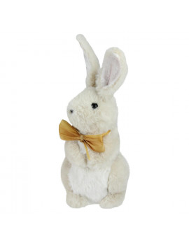 "11.5"" Beige Plush Standing Easter Bunny Rabbit Boy Spring Figure"